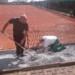 Arbeiten am Tennisclub
